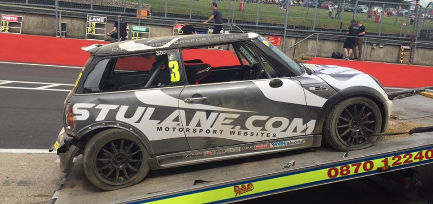 Stu Lane has eventful weekend in Open Class at Brands Hatch Mini Festival.